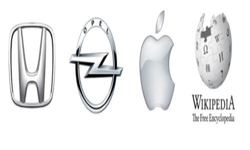 loghi bianco argento