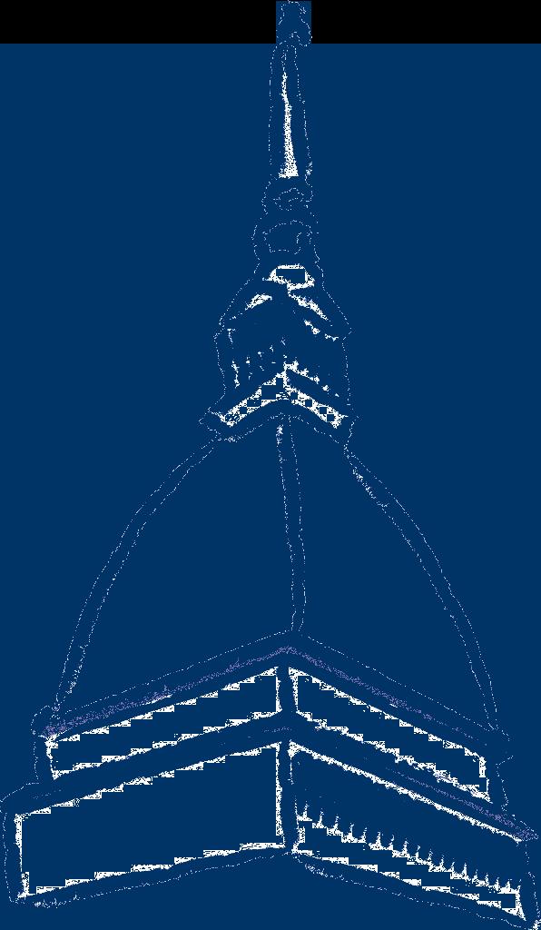 Mole antonelliana Torino stilizzata